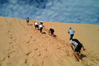 photo of outdoor group personal training, boot Camp with personal trainer at Real Results Fitness Training Oatley Sydney