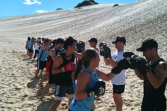 photo of outdoor group personal training, boot Campwith personal trainer at Real Results Fitness Training Oatley Sydney