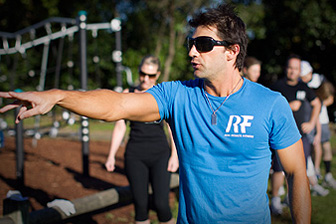 photo of outdoor group personal training with personal trainer at Real Results Fitness Training Oatley Sydney